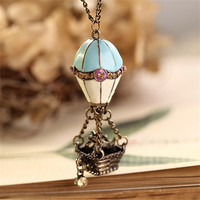 2016 new love womens jewelry statement necklaces & pendants,long rope air-ballnoon collier collares femme necklace for women