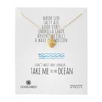 Dogeared Take Me To The Ocean Clam Shell Necklace Gold Dipped - Zappos.com Free Shipping BOTH Ways