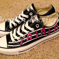Musical Notes Converse Shoes