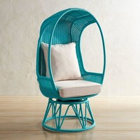 Spinasan™ Turquoise Swivel Chair