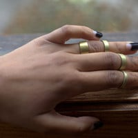 Stackable Brass Rings by ByDORI on Etsy