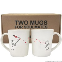 Catch My Love™ Couple Mug Set
