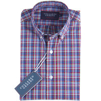 The Ashe Button Down Shirt Red/Blue/Green
