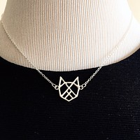 SILVER BELLE Origami Necklace