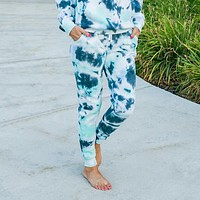 Navy and Mint Tie Dye Lounge Joggers