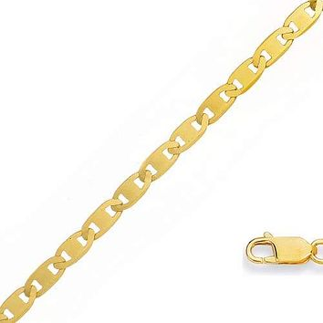Mariner 4mm 18K Gold Plated Chain