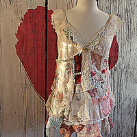 Altered Couture | Wearable Boho Art | Women's Clothing | Tattered Raw Mori | Shabby Chic Clothes