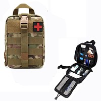 Hiking EDC Molle Tactical Pouch Bag Emergency First Aid Bag Survival Kit Package Travel Outdoor Camping Climbing Medical Kits Bag