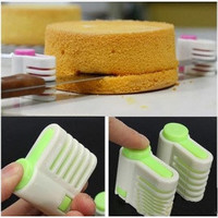 5 Layers Kitchen DIY Cake Bread Cutter Leveler Slicer Cutting Fixator Tools 2pcs/set (without Knife) = 1669151748