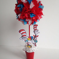 Dr Seuss birthday party, decoration, centerpiece, decorations, Centerpieces, cat in the hat