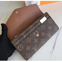 LV  new women's long section zipper wallet