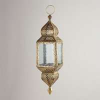 Medium Clear Kamali Hanging Lantern | World Market