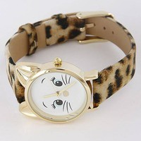 Leopard Kitty Cat Watch