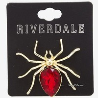 Licensed cool Riverdale Cheryl Blossom HBIC Replica RED Spider Brooch Pin Hot Topic Exclusive xyz