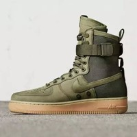Nike Air Force 1 Af1 High Tops Green For Women Men Running Sport Casual Shoes Sneakers