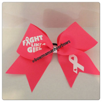 Fight Like A Girl Cheer Bow