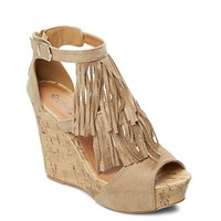 Layered Fringe Wedge by Qupid