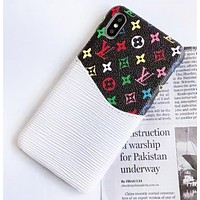 Louis Vuitton LV Fashion New Monogram Print Insert Card Phone Case Protective Case Cover
