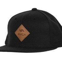 RVCA Delux Snapback Hat Black, One Size
