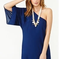 Serious Flare Dress - Navy