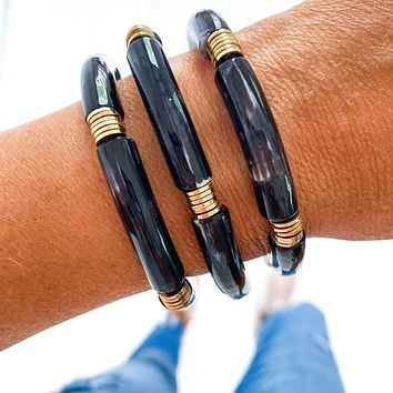 Tube Bamboo Bracelet (Choose Your Color)