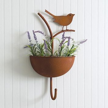 Bird on a Branch Wall Planter