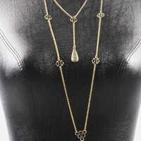 Exotic Tiered Necklace - Bronze