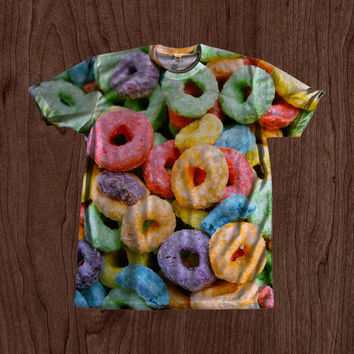 90's Kid Fruit Loops Shirt unisex Youth & Adult size tshirts USA Handmade *Fast Shipping*