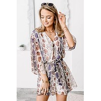 Ain't It Grand Snake Print Romper