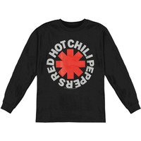 Red Hot Chili Peppers Men's  Asterisk  Long Sleeve Black