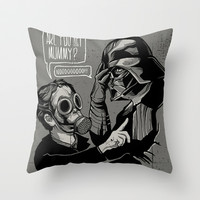 Are you my Mummy? Throw Pillow by zerobriant
