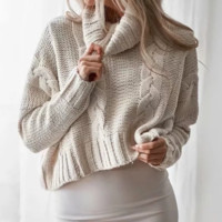 New Sweater Women Autumn and Winter Women's Turtleneck Sweater Sexy Pullover