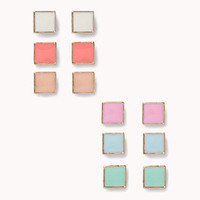 Lacquered Square Stud Set