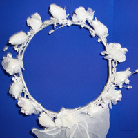 Flower Girl Wreath silk flower wreath with by Hoalanebridal