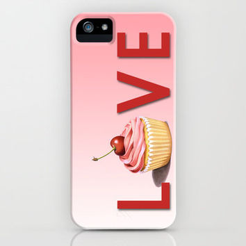 Perfect Pink Cupcake LOVE iPhone Case by Patricia Shea Designs | Society6