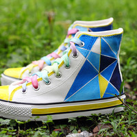 Geometric galaxy sneakers,exo galaxy vans shoes,custom vans,summer love best gift custom shoes