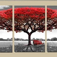 3 Panel Tree Nature Canvas Wall Art Decor
