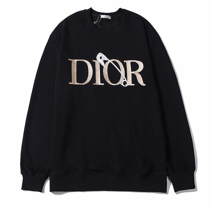 Image of Dior men and women couples letter embroidery fashion casual top