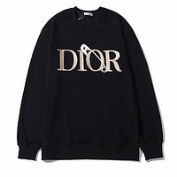 Dior men and women couples letter embroidery fashion casual top