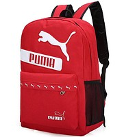 PUMA 2018 new men and women trend fashion casual shoulder bag F-A30-XBSJ Red