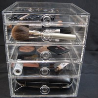 5 Drawer Acrylic Makeup or Jewelry Holder