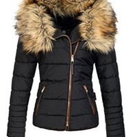 2018 New Parkas Female Women Winter Coat Thickening Cotton Winter Jacket Womens black faux fur Outwear Parkas for Women Winter