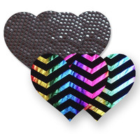 Nippies® Midnight Rainbow Heart Pasties