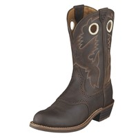 Ariat Boots Women's Heritage Roughstock Antique Brown Cowgirl Boots #10001594