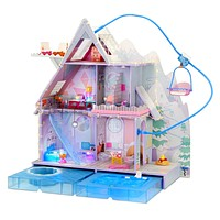 LOL Surprise OMG Winter Chill Cabin Wooden Doll House with 95+ Surprises