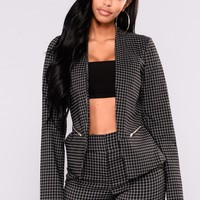 Out Of The Office Blazer - Black/White