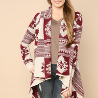 Indian Tribe Oversized Cardigan