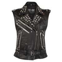 Studded Leather Vest [B] | KILL STAR