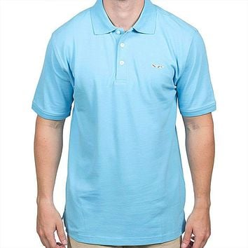Longshanks Embroidered Patch Polo in Crystal Blue by Country Club Prep