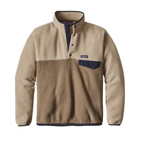 Patagonia Men's Lightweight Synchilla Snap-T Fleece Pullover Ash Tan